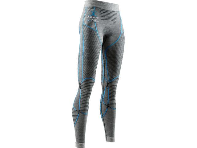 X-Bionic Apani 4.0 Leggings en mérinos Femme, black/grey/turquoise